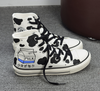 Harajuku Milk Box Hand Painted High Top Sneakers