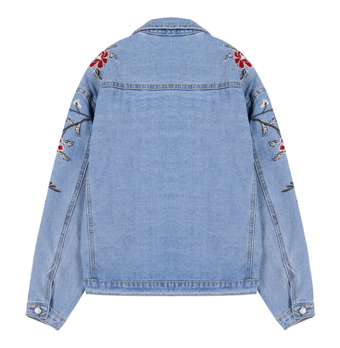 ... Floral Embroidered Denim Jacket. image.AlternateText