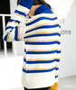 Blue Striped Retro Sweater