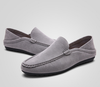Casual Driving Suede Slip Loafer In Gray