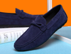 Men's Casual Driving Moccasin Loafer In Blue