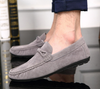 Men's Casual Driving Moccasin Loafer In Gray
