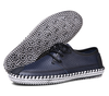 Classic Casual Lace-up Loafers In Navy