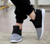 Gray Black Casual Slip-On Sneakers