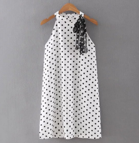 Polka Dots Halter Dress