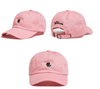 Rose Embroidered Hat In Pink