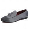 Casual Tassel Suede Loafers In Gray