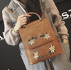 Retro Floral Embroidered Backpack