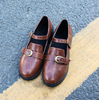 Brown Buckle Strap Shoes