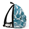 Harajuku Sea Waves Prints Backpack