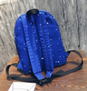 Blue Alien Stars Prints Backpack