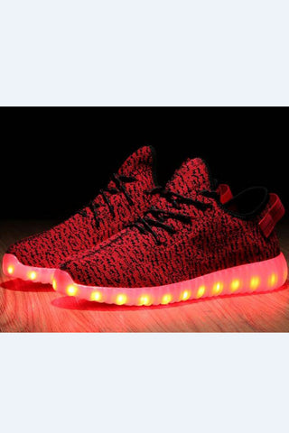 Red LED Light Running Shoes