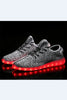 Gray LED Light Running Shoes