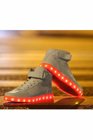 White High Top Light LED Shoes