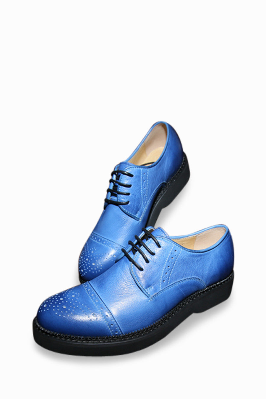 Retro Blue Loafers