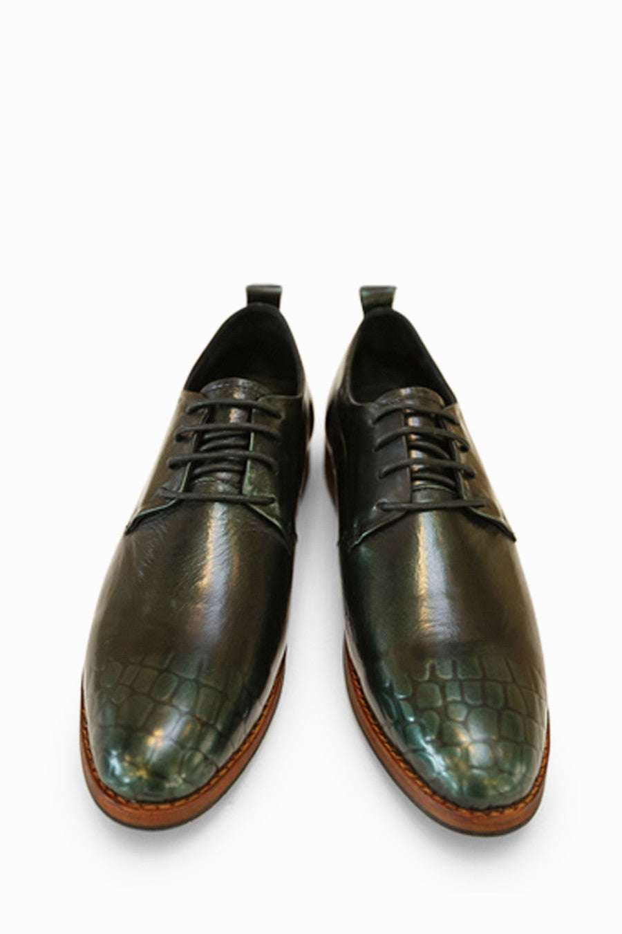 Vintage Brogues Shoes In Green