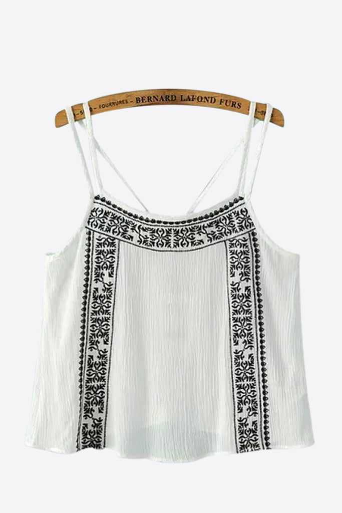 Vintage Embroidered Cami Top