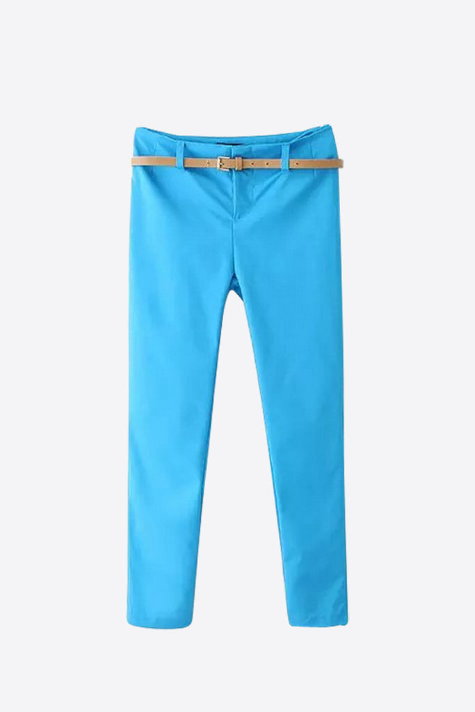 Slim Stretch Pants In Sky Blue
