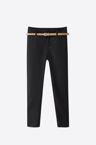 Classic Slim Stretch Pants In Black