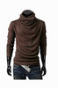 Man Slim Fit Brown Sweater