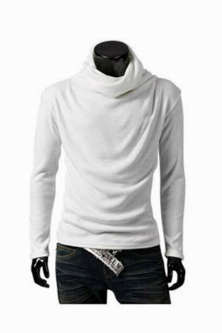 Man Slim Fit White Sweater