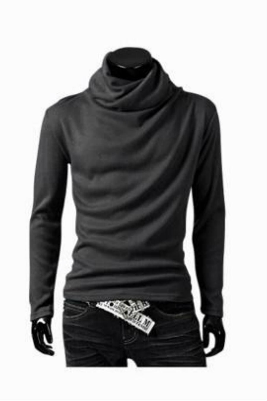 Man Slim Fit Dark Grey Sweater