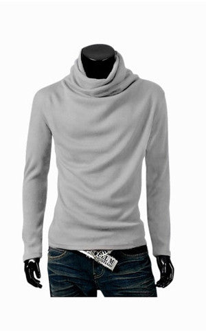 Man Slim Fit Light Gray Sweater