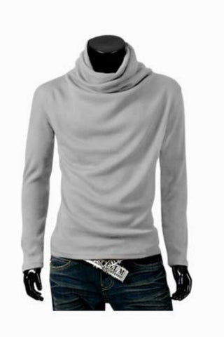 Man Slim Fit Light Grey Sweater