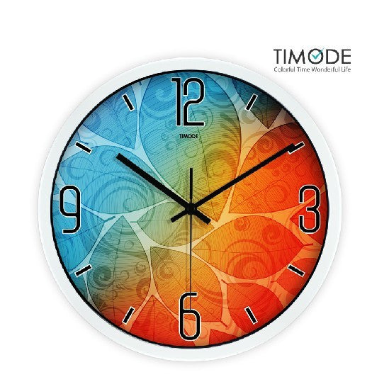 Fashion Art Wall Clock Fancy Color In White