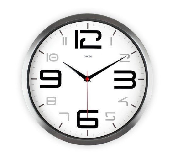 Art Wall Modern Clock In Silver Satin