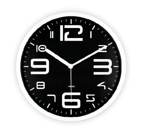 Art Wall Clock Modern In Black