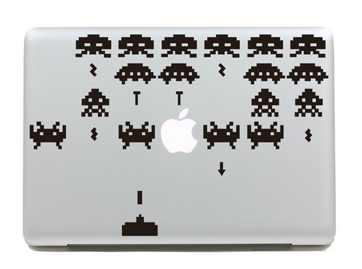 Macbook Space Invaiders Decal Sticker. Art Decals By Moooh!!