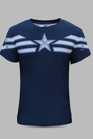 Navy Crew Neck Captain America T-shirt