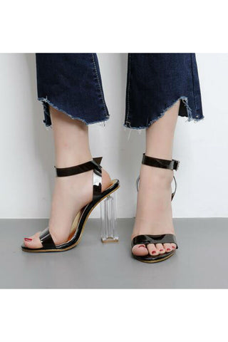 Lucite Ankle Heels