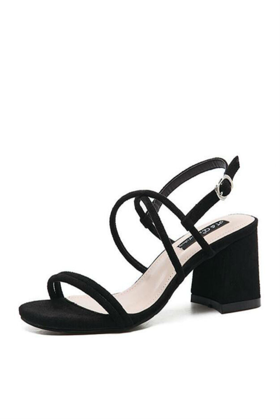 Black Crisscross Heels Sandals