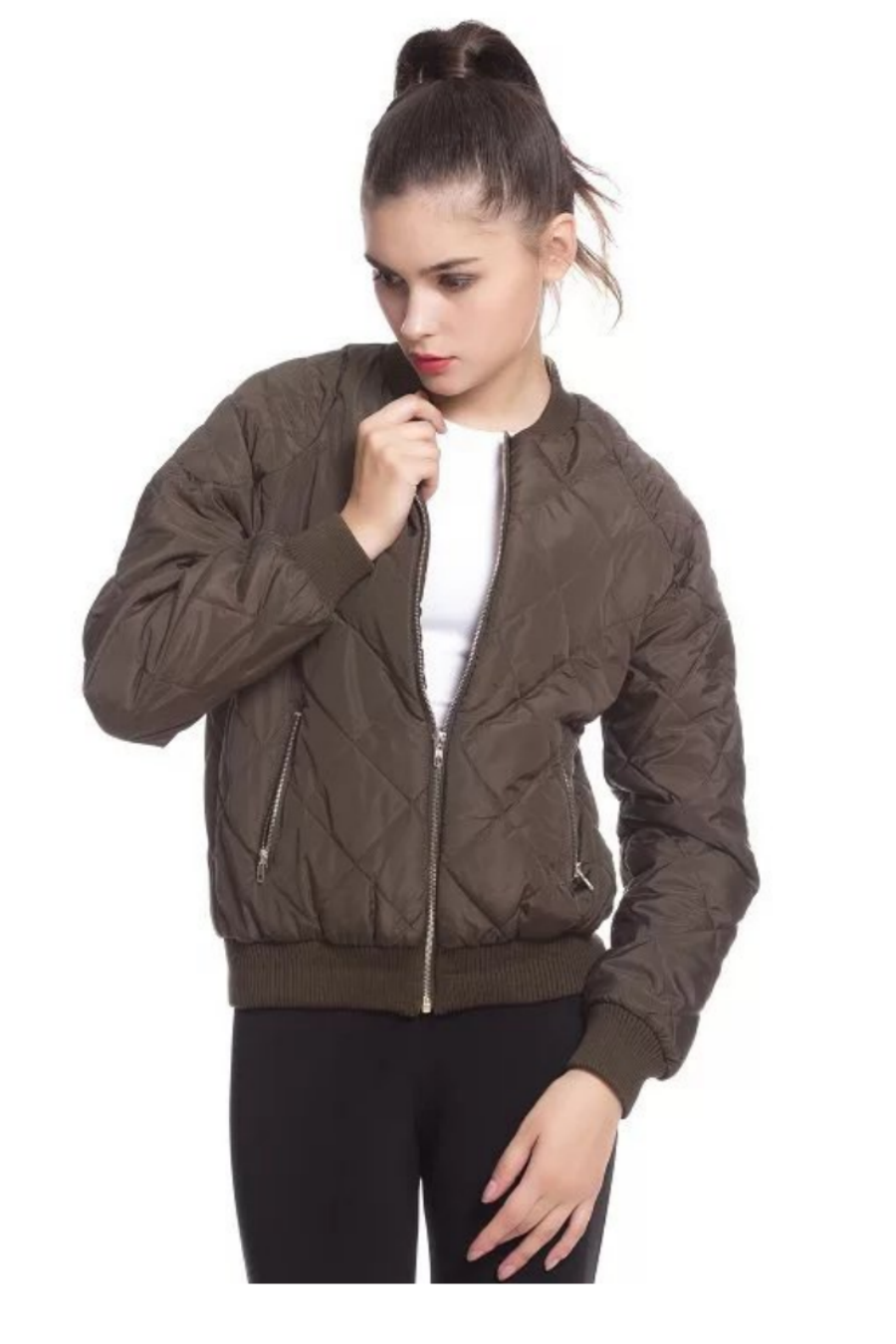 Army Green Zip Jacket