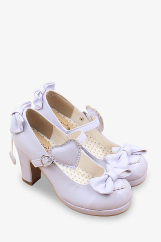 Lolita Bows Heels In Lilac