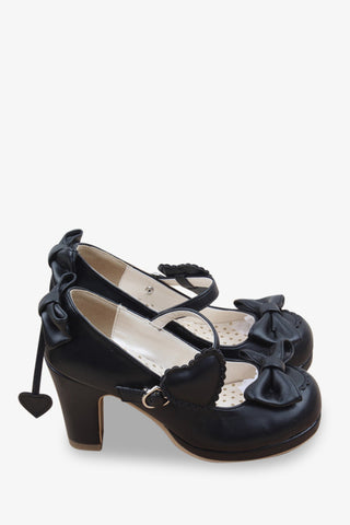 Lolita Bows Heels In Black