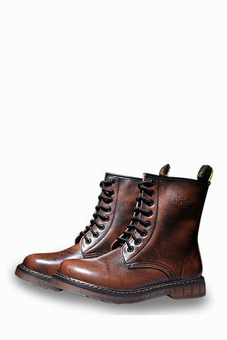 Vintage Martin Army Boots In Brown