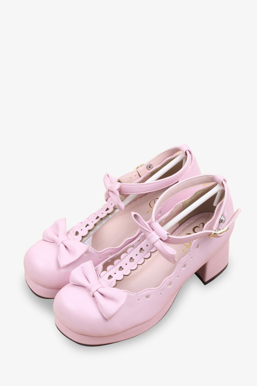 6dca291e34f8 Pink Bows T-Strap Lolita Shoes