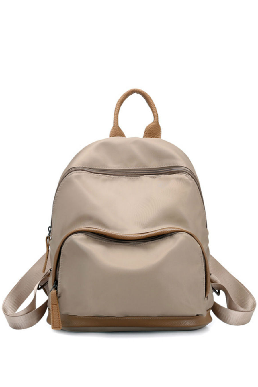 Elegant Beige Nylon Backpack