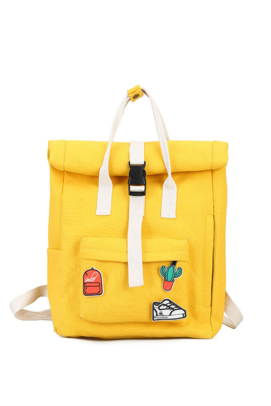Harajuku Canvas Backpack With Patch