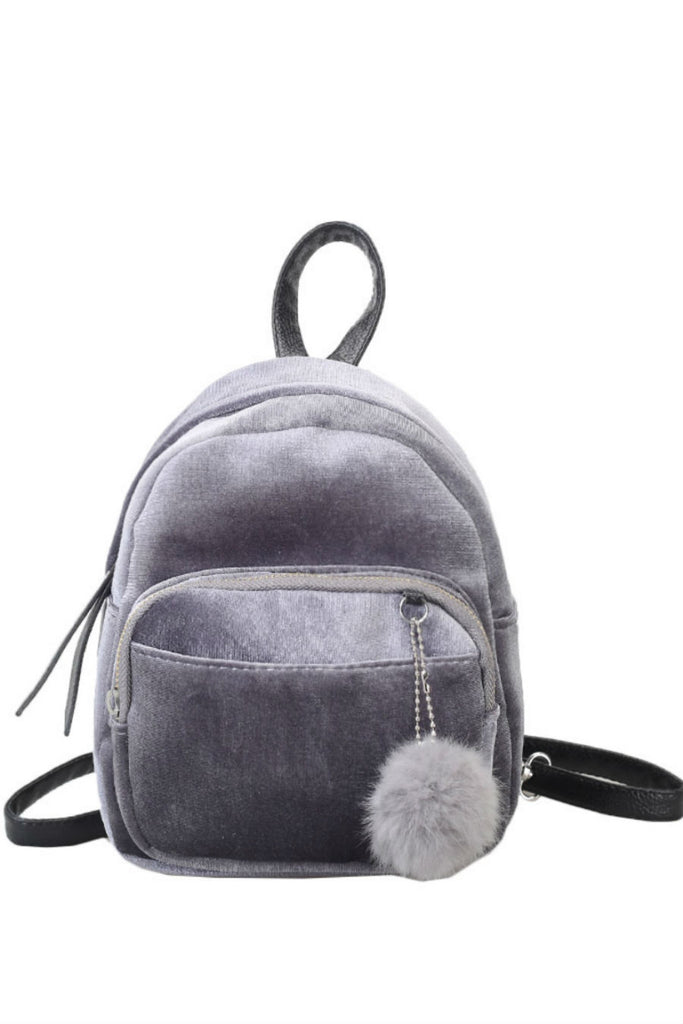 Velvet Solid Mini Backpack