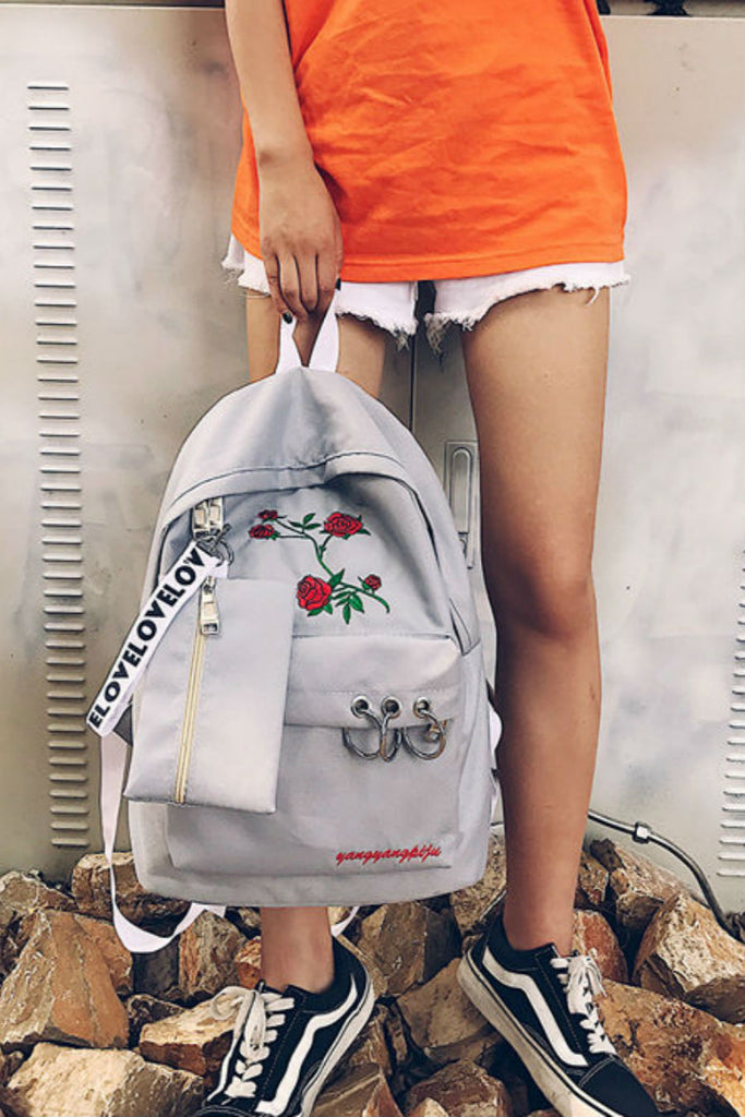 Retro Printed Canvas Backpack