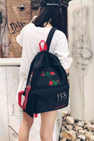 Rose Canvas Grunge Backpack