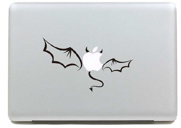 Macbook Black Devil Decal Sticker. Art Decals By Moooh!!
