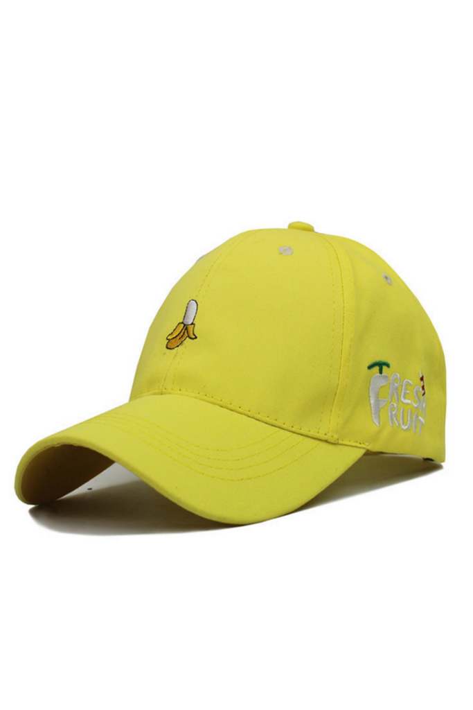 Yellow Banana Embroidered Hat