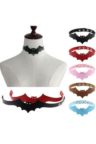 5pcs Bat Punk Choker
