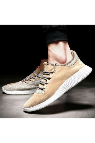 Suede Line Athletic Shoes In Beige
