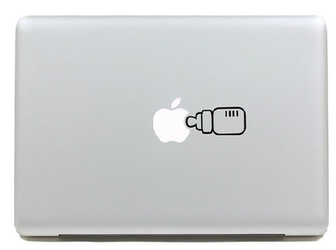 Macbook Biberon Decal Sticker. Art Decals By Moooh!!